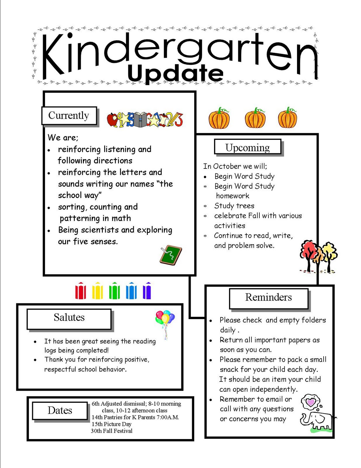 492714118-kindergarten_update_October__2_ Teacher Newsletter Template For Elementary on