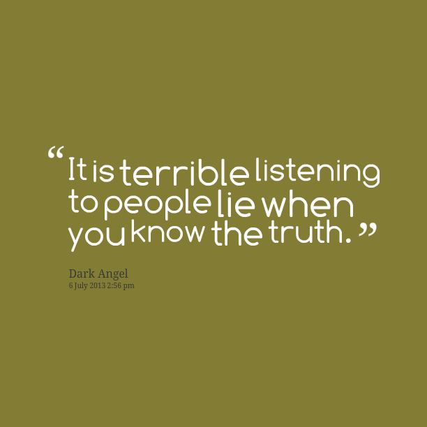 Why People Lie Quotes. QuotesGram