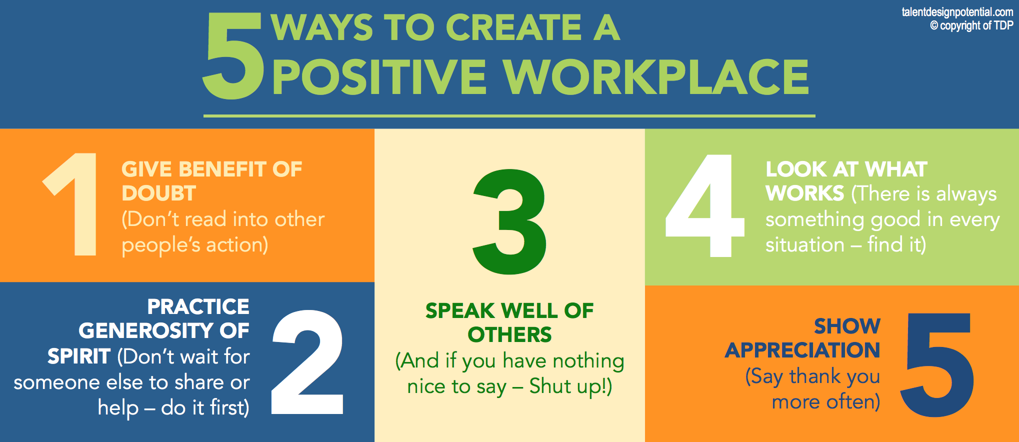 The Importance of a Positive Environment in the Workplace