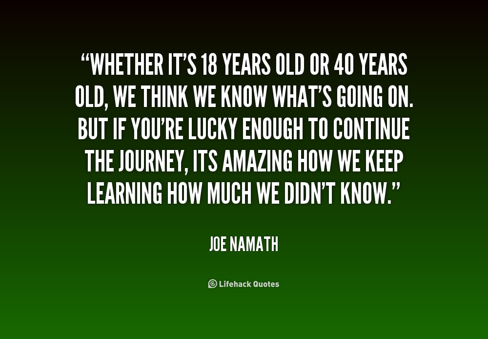 Forty Years Old Quotes Quotesgram