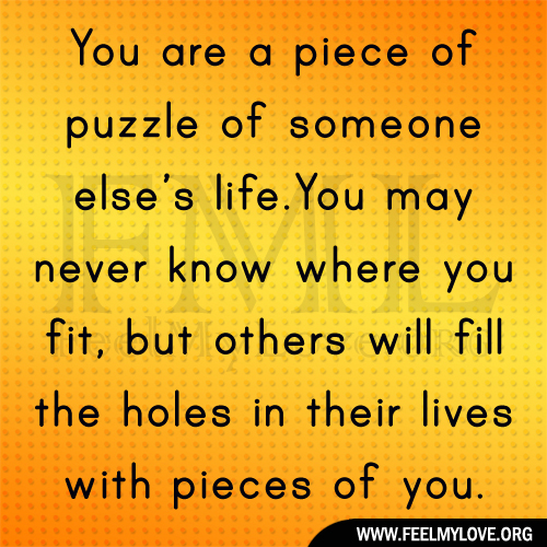 Love Puzzle Quotes: Puzzle Quotes About Love. QuotesGram