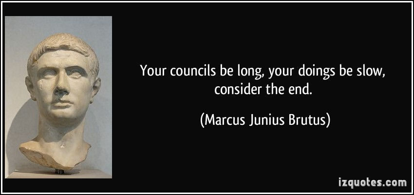 brutus feelings at the end of Get an answer for 'why does brutus kill himself in the end of julius caesar' and find homework help for other julius caesar questions at enotes.