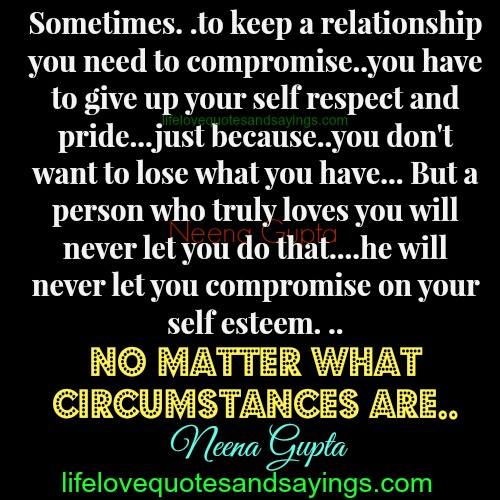 What Is Self Respect In A Relationships