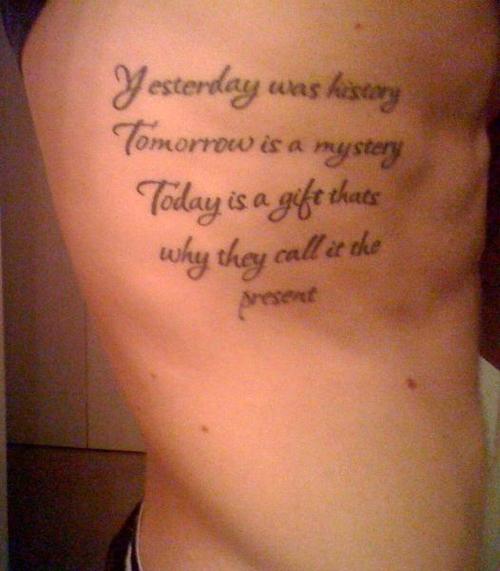 Powerful Quotes For Tattoos Quotesgram: Rib Tattoo Quotes. QuotesGram
