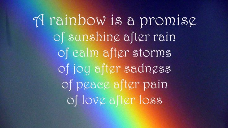 Rainbow After Rain Quotes About. QuotesGram