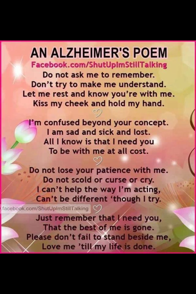 Alzheimers Poems And Quotes. QuotesGram