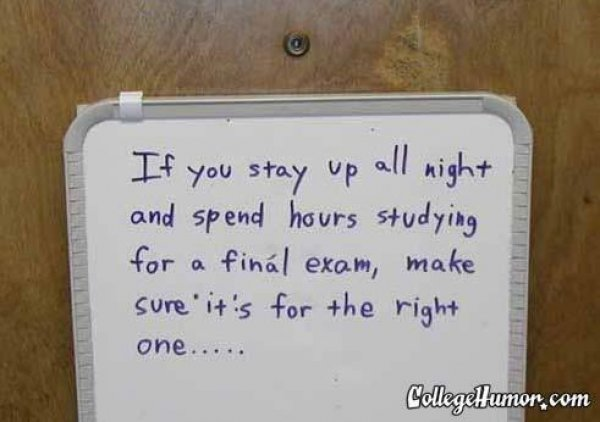 Funny Quotes About College Finals. QuotesGram
