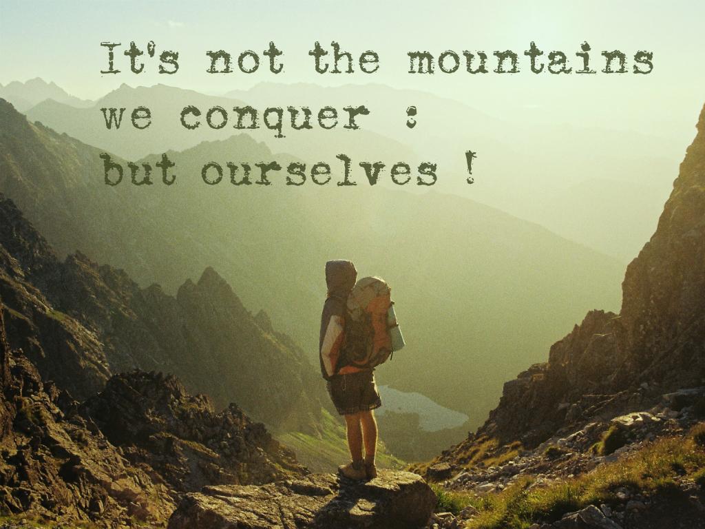 inspirational mountain quotes quotesgram
