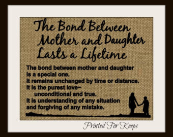 the bond between mother and child essay If the parents wanted a baby of a particular sex, they may be disappointed if the  baby is  this significant bond between infant and parent is critical to the infant's .