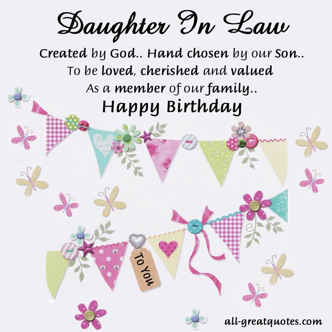 Happy Birthday Daughter In Law Quotes Quotesgram