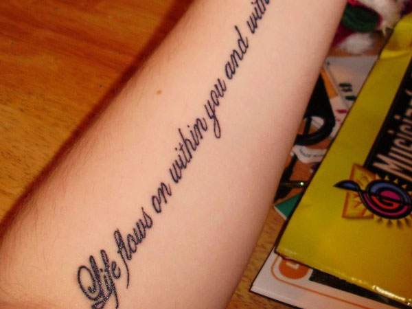 Small tattoos quotes for life quotesgram for Thoughts about tattoos