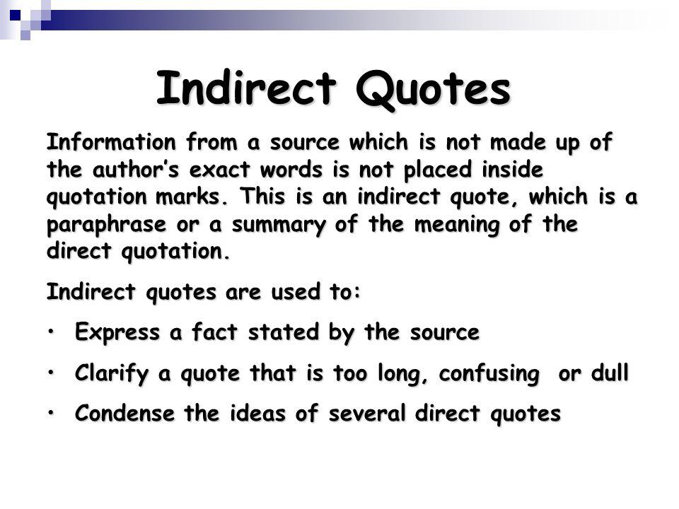 Indirect Quotes. QuotesGram
