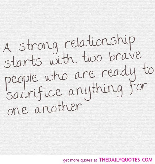 Inspirational Quotes About Strong Relationships. QuotesGram