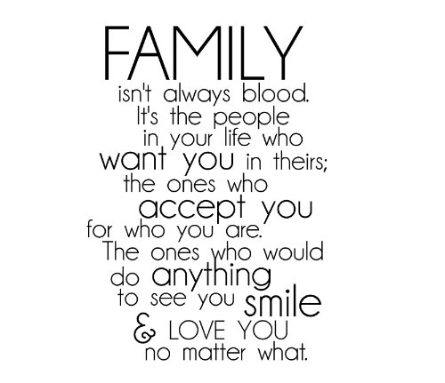 Not Blood Family Quotes And Sayings. QuotesGram