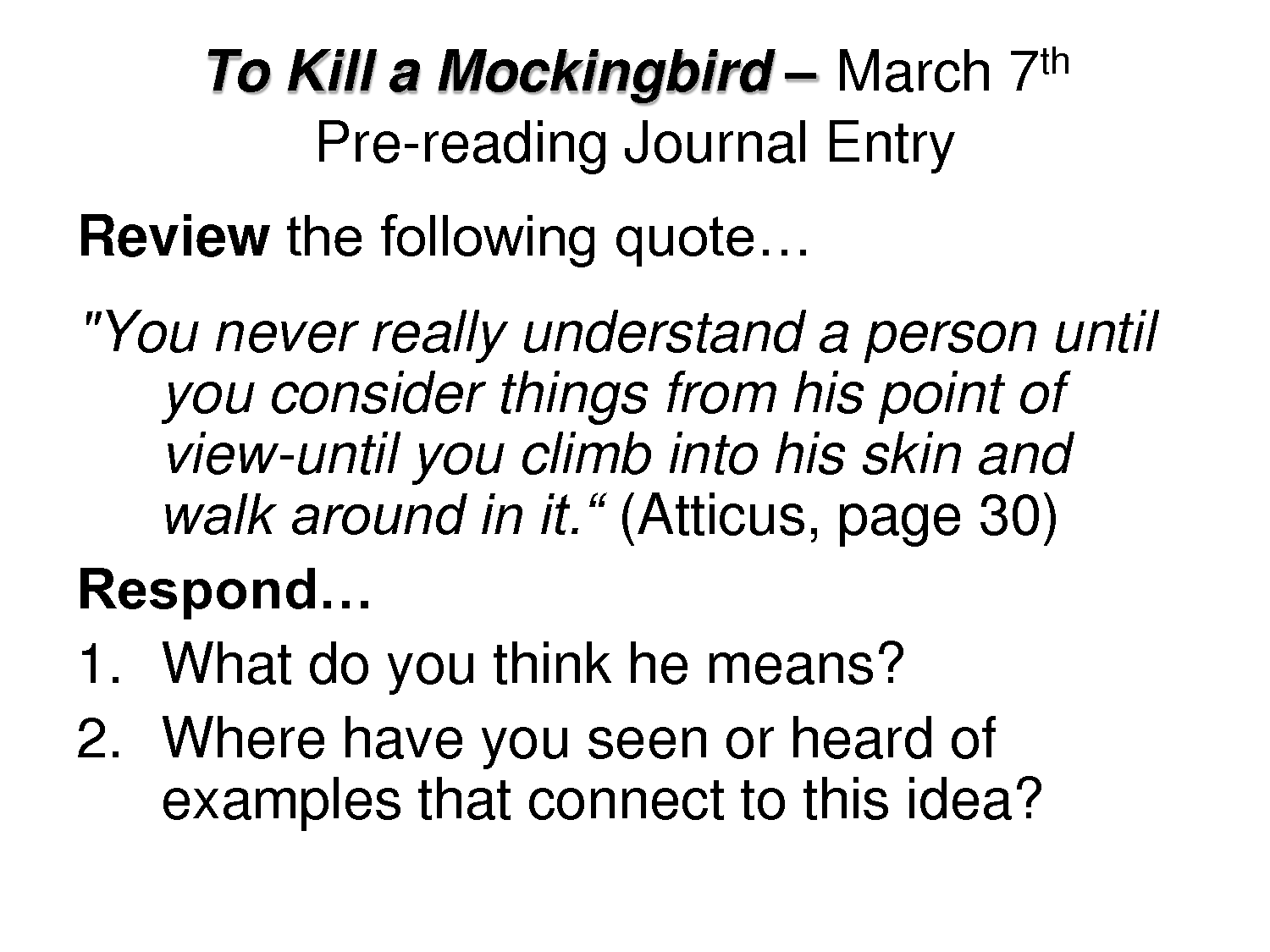 Harper Lee's To Kill a Mockingbird: Racism, Discrimination, Social class