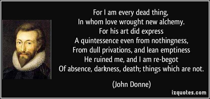 john donnes loves alchemy essay