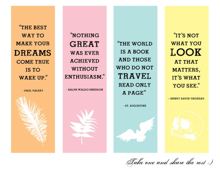 Irresistible image in free printable bookmarks with quotes