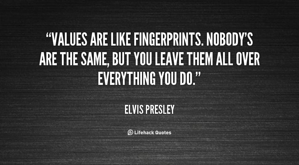 Elvis Fingerprint/Quote Print 11x14 FREE SHIPPING |Leave Your Fingerprint Quotes
