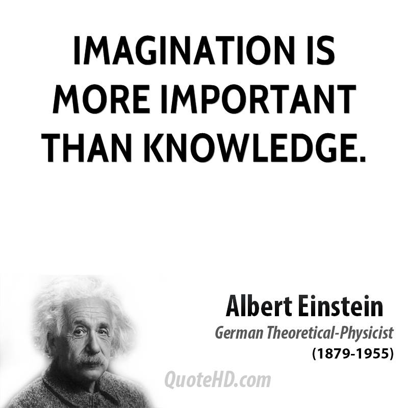 the importance of imagination over knowledge in science according to albert einstein