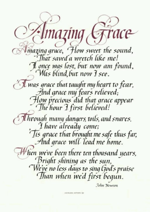 Knowing God |Amazing Grace Wallpaper Poems