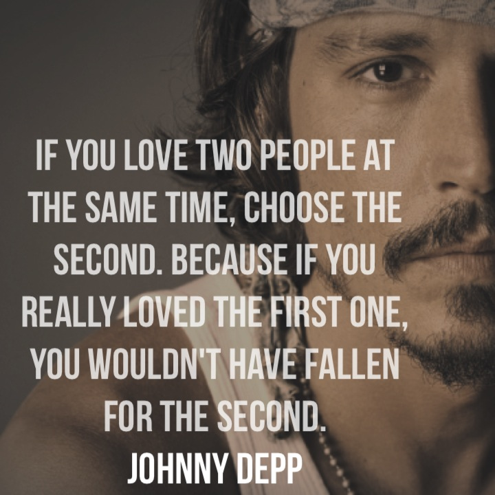Quotes On Loving Two People: Johnny Depp Quotes If You Love Two People. QuotesGram
