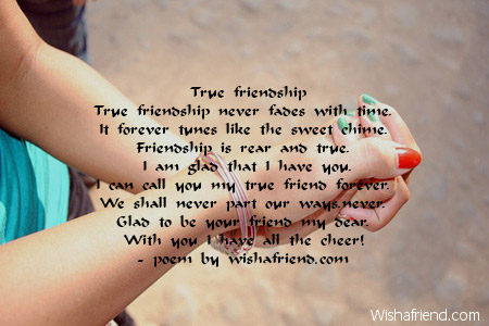 Friendship poem teen