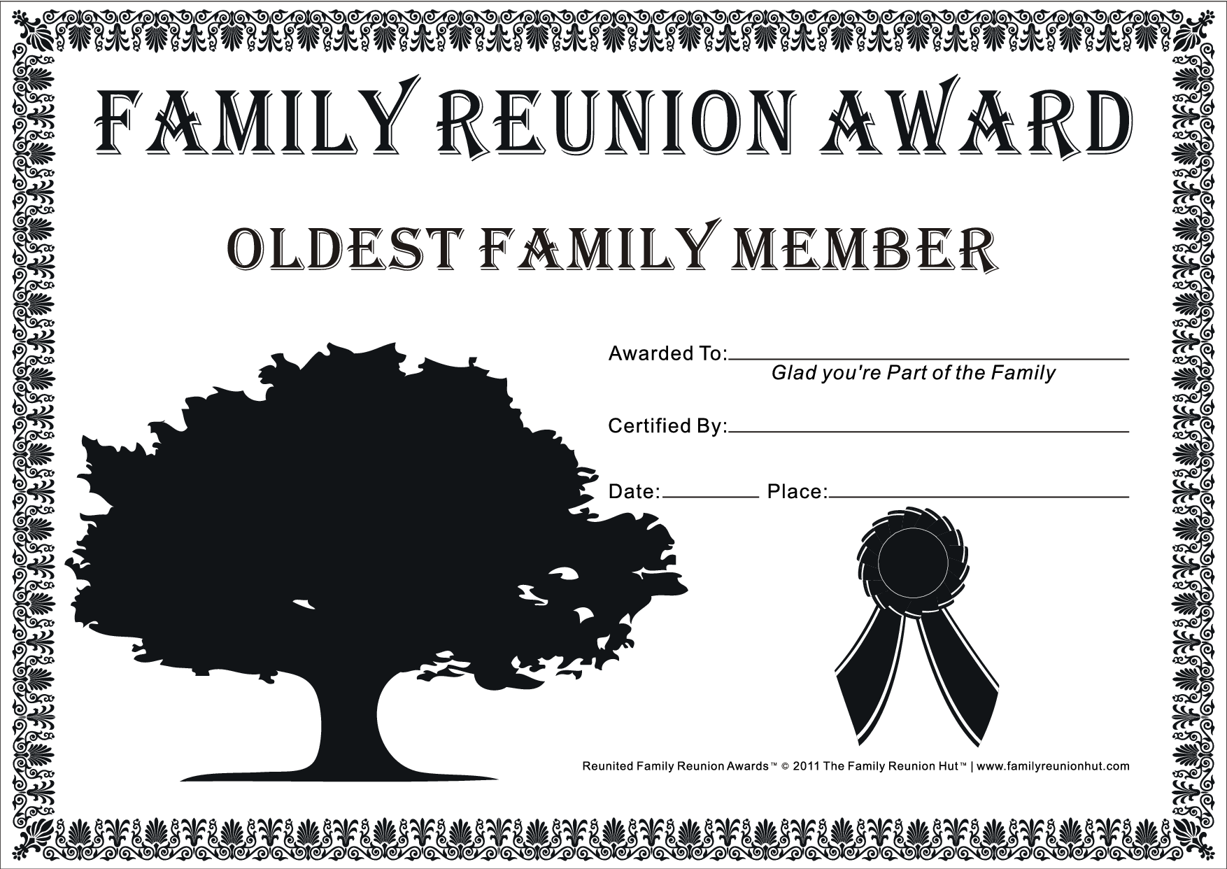 Black family reunion quotes quotesgram for Free family reunion certificates templates