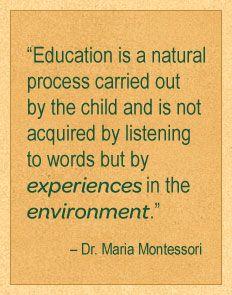 Maria Montessori Quotes On Nature Quotesgram