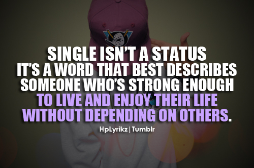 Single Quotes For Girl...
