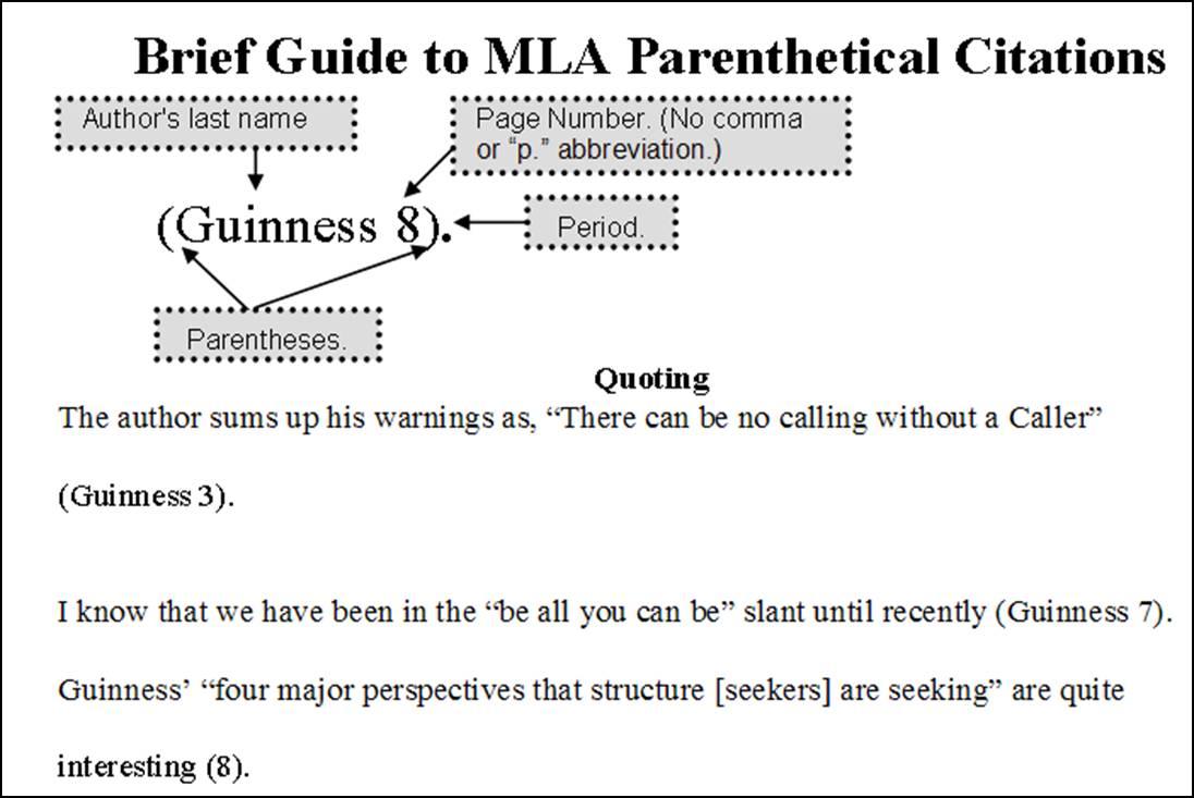 Quote Cited Website Example Of Quotesgram Paraphrase Citation Mla