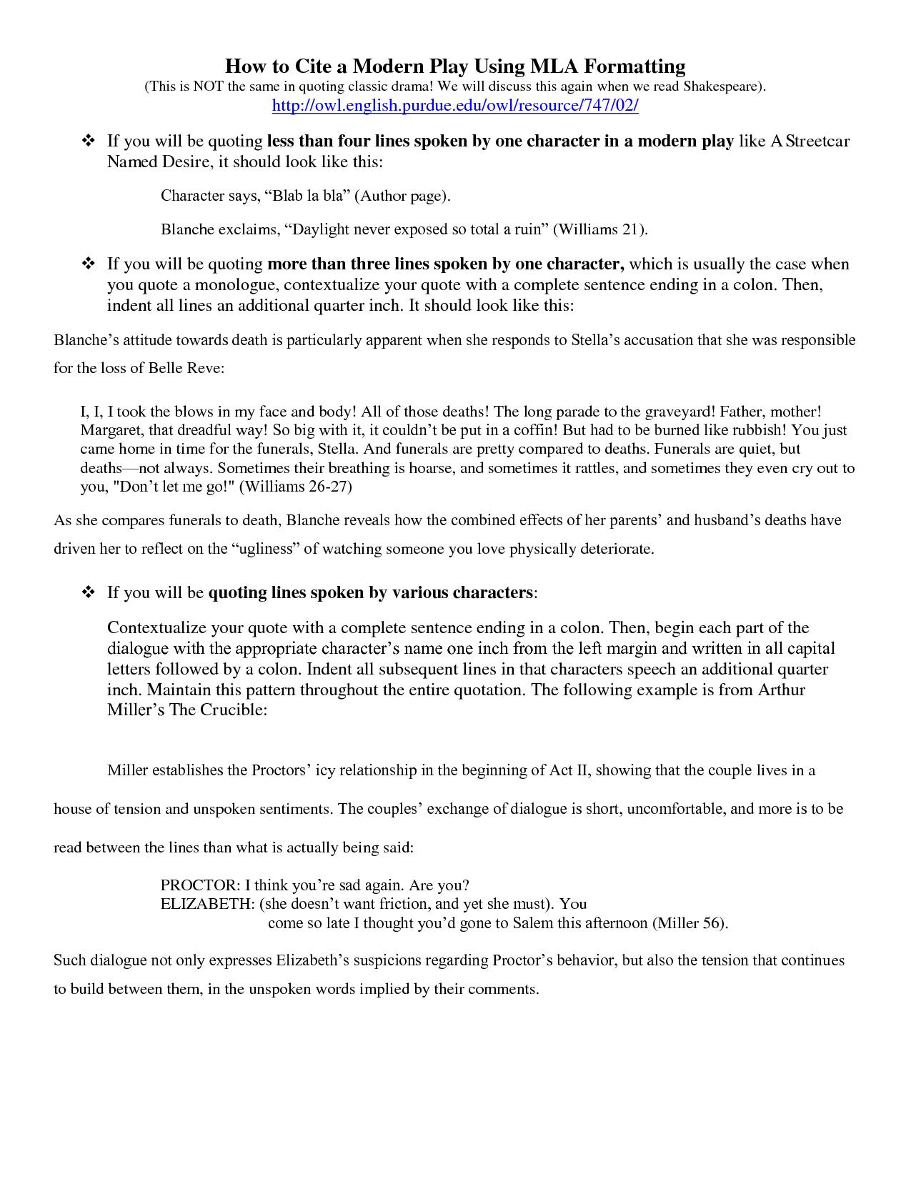 mla format essay quotes  quotesgram
