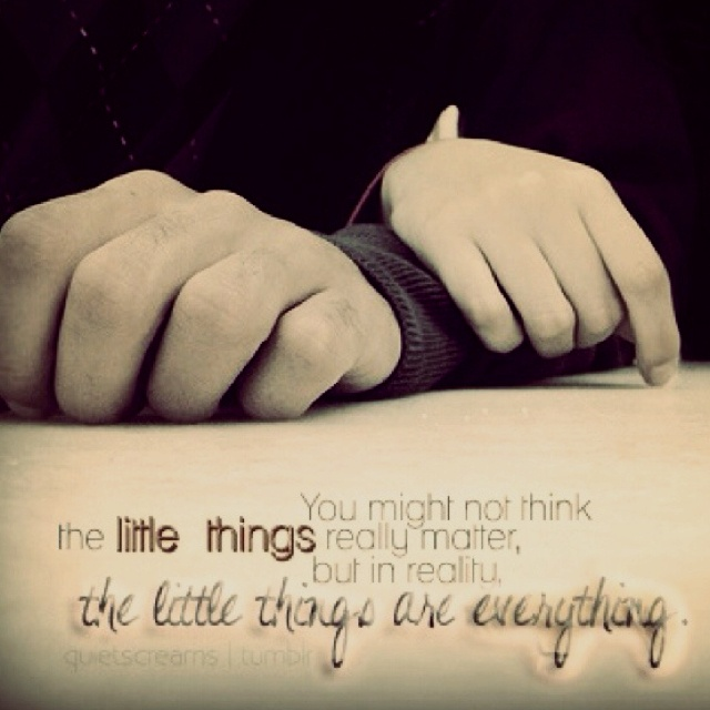 The Little Things Matter Most In Life: Quotes About Little Things Matter. QuotesGram
