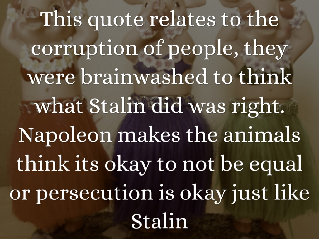 the corruption in animal farm Examples of the theme of corruption of socialist ideals can be seen throughout animal farm once napoleon takes over as the leader of the farm, his reign becomes.