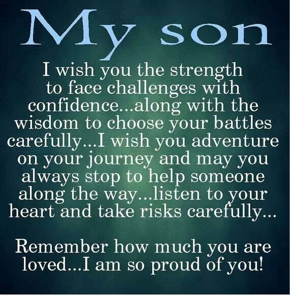 I Am Proud Of My Daughter Quotes: Proud Of Son Quotes And Sayings. QuotesGram