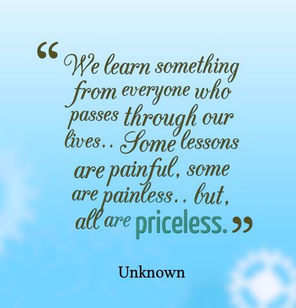 Motivational Quotes About Life Lessons: Inspirational Quotes On Lessons Learned. QuotesGram