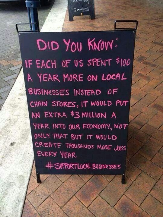Support Local Business...