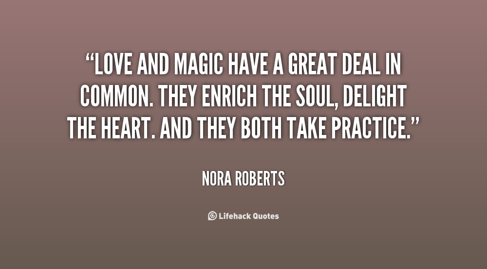 Quotes About Love: Quotes About Love And Magic. QuotesGram