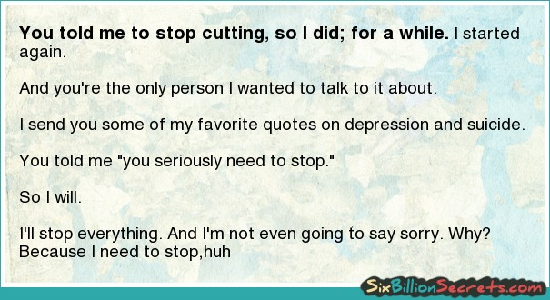 Quotes about stop cutting yourself
