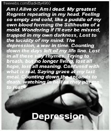 Sad Quotes About Depression: Depression Quotes And Poems. QuotesGram
