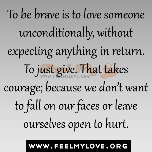 What is it to love someone unconditionally