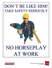essays on horseplay in the workplace Safety toolbox topic on how horseplay around a horseplay turns deadly safety each year there are hundreds of injuries in the us from pulling pranks at work.