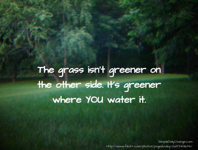 Grass Is Always Greener Quotes: Greener Quotes. QuotesGram