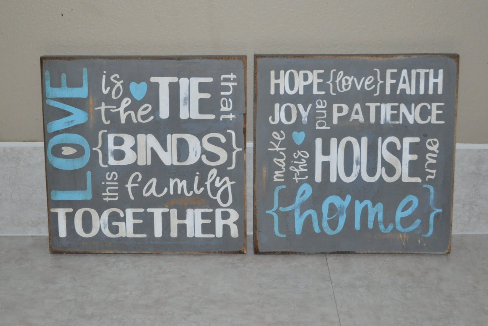 Wood signs with sayings