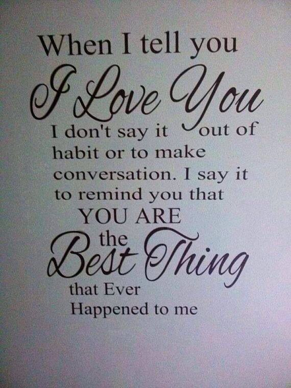 I love you quotes for him and her from Lovable Quote!   Just Say You Love Him Sayings