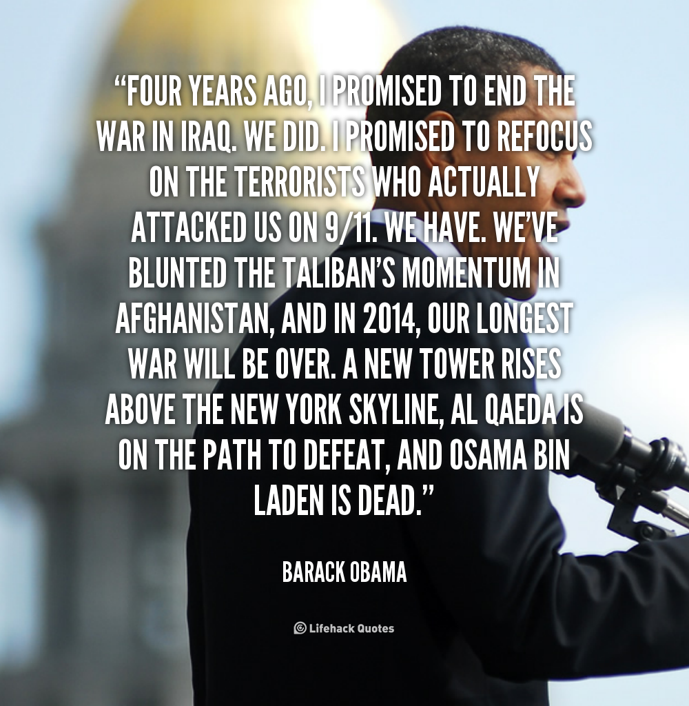Quotes On War: Barack Obama Quotes On War. QuotesGram
