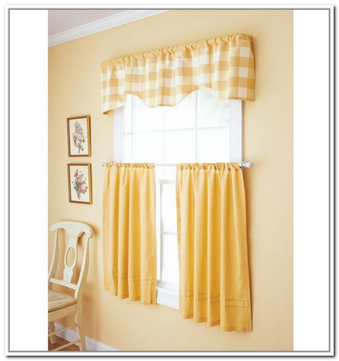 Yellow kitchen quotes quotesgram - Modern valances for kitchen ...