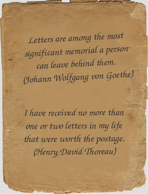 Quotes About Writing Letters QuotesGram