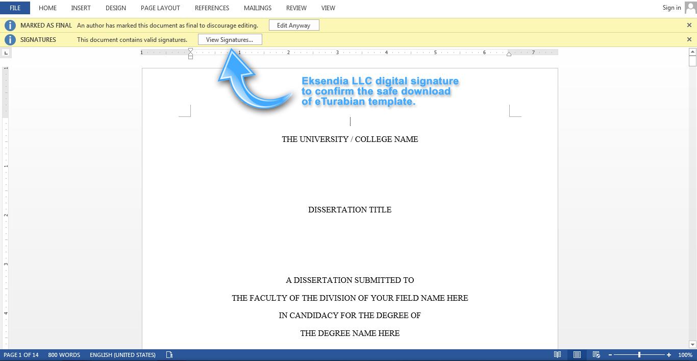 turabian format example paper