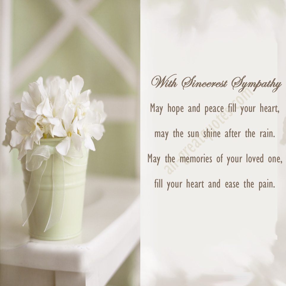 Words Of Sympathy New World: Deepest Condolences Quotes. QuotesGram
