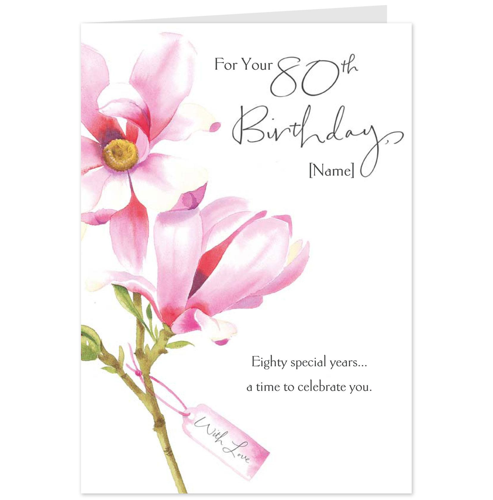 Doc7701083 Message for 80th Birthday Card AMSBE Free 80th – What to Write in 80th Birthday Card